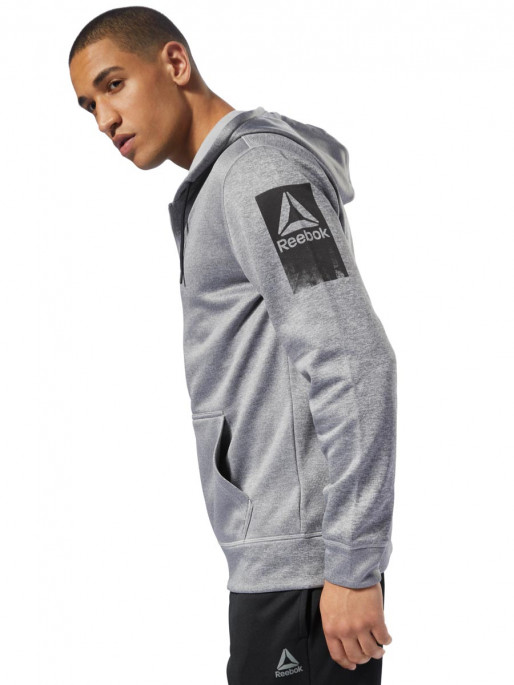 REEBOK Суитшърт WOR POLY FLEECE FZ HO
