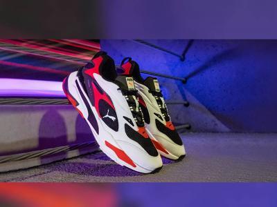 Атрактивната комбинация в обувките RS-FAST на Puma: цветни, малко ретро, много смели