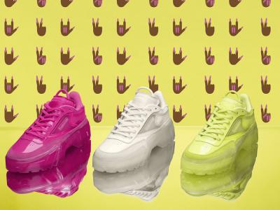 Изрази себе си с обувките Club C в неонови цветове, създадени от Reebok и Cardi B